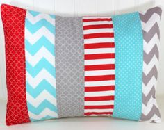 red and aqua baby bedding on Etsy, a global handmade and vintage ...