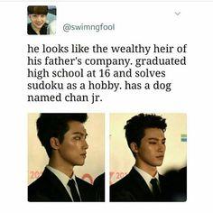 Has a dong named Chan JR. XD <-- Dong? Lmaoooo Dog and dong named Chan junior