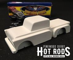 pinewood derby kit car boyscouts chevy chevy 3100 by on Etsy Wooden Truck, Wooden Car, Toy Art, Pinewood Derby Car Kits, Matte Black Cars, Old Hot Rods, Cute Cars, Toy Trucks, Wood Toys