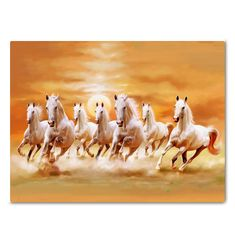 Horse Running In The Sunset Canvas Print