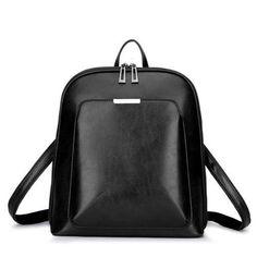Vintage Women Backpack School Bags for Teenage Girls Shoulder Bag Female Oil Wax Leather Backpacks Mochilas Mujer 2018 Bagpack (China) Vintage Backpacks, Girl Backpacks, Casual Backpacks, School Bags For Girls, Girls Bags, Faux Leather Backpack, Leather Backpacks, Pu Leather, Vintage Leather