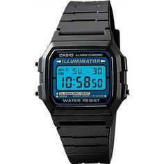 Casio Men's F105W-1A Black Resin Quartz Watch with Digital Dial - Overstock Shopping - Big Discounts on Casio Casio Men's Watches