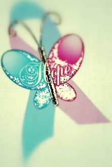 baby loss ribbon with butterfly  #miscarriageletstalkaboutit #babylossawareness #thepinksnblues