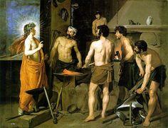 Diego Velázquez - La Fragua de Vulcano (Apollo at The Forge of Vulcan) Spanish Painters, Spanish Artists, Caravaggio, Art Du Temps, Diego Velazquez, La Forge, Baroque Art, Roman Mythology, Classical Mythology