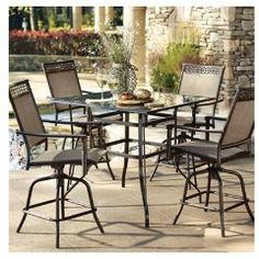 Find Out How To Start Living The High Life   Click Thru Or Visit Top 5. Bar  Height Patio Set5 ...