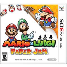 Get Mario Luigi Paper Jam release date cover art, overview and trailer. What happens when Mario & Luigi: Dream Team combines with Paper Mario: Sticker Star? You get a whole new adventure that matches up sprite and paper-thin characters in Mario. Nintendo 2ds, Nintendo 3ds Games, Nintendo Switch, Radios, Mario Und Luigi, Nintendo Console, 3d Mode, Action, Sissi