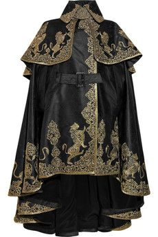 Alexander McQueen  Cape - this piece of clothing would make my life awesome.