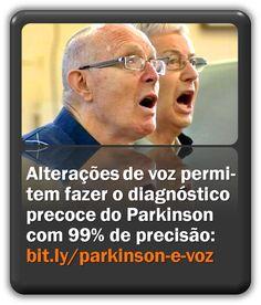 Alterações de voz permitem fazer o diagnóstico precoce do Parkinson com 99% de precisão. The Voice