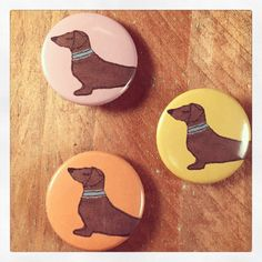 Dachshund gift dog badges short haired doxie by BeaglenThread