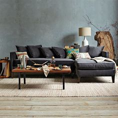 Dunham Down-Filled 2-Piece Sectional - Toss Back #westelm - I wish they had a down alternative!