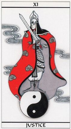 XI. Justice - Meditation Tarot by Mondo Oki Mei Unasaka