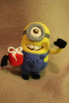 One-Eyed MINION Needle Felted collectible figure por AliceFelts