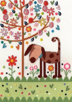 Daisy Patch Dog - Bothy Threads Cross Stitch