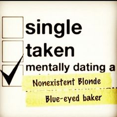 Bahahaha!!  Or... Married and this on the side.  ;-)