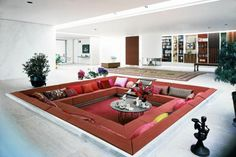 Modern Living Room Design with Square Sofa by Alexander Girrard