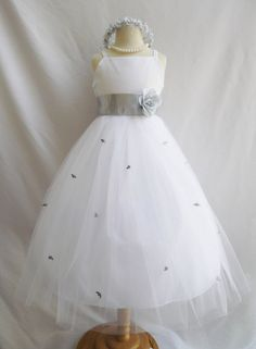IVORY flower girl dress more than 20 sash and by KidsDreamsUSAinc, $36.99
