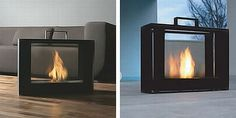 Portable fireplace anyone? I would LOVE this!