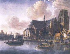 1676.Laurenskerk. Schilder Abraham Storck