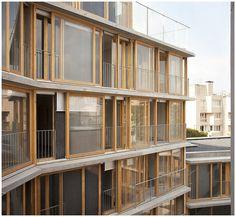 20 logements sociaux, Babled-Nouvet-Reynaud Architectes (BNR), 2013. Rue des Orteaux, Paris. | par Clement Guillaume