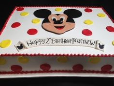 Mickey mouse sheet cake with fondant