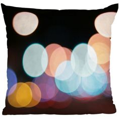 DENY Designs Leonidas Oxby Friday Night Lights Throw Pillow ($45) ❤ liked on Polyvore