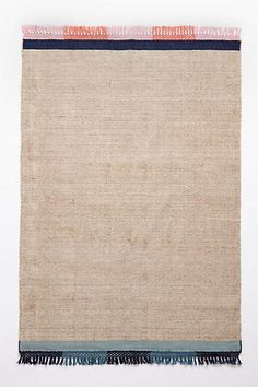 Striped Edge Flatweave Rug#Anthropologie #Pintowin Outdoor decorating ideas Bright colors and calming neutrals Red, Orange, Blue, Green, Yellow, White & Grey
