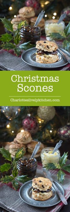 scones - brandy scones with mincemeat and marzipan. A festive twist on a classic afternoon tea treat.Christmas scones - brandy scones with mincemeat and marzipan. A festive twist on a classic afternoon tea treat. Xmas Food, Christmas Cooking, Christmas Desserts, Christmas Treats, Christmas Foods, Christmas Kitchen, Christmas Candy, Family Christmas, Christmas Eve