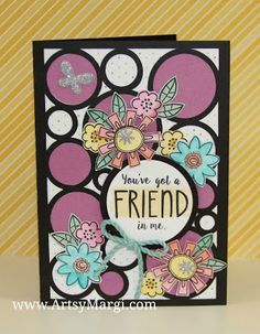 "Artsy Margi : Simply Inspired Blog Hop - Seasonal Expressions 1 Penelope paper & card shape from the CTMH Artfully Sent Cricut cartridge. The little flowers are from the ""Friend In Me"" stamp set."
