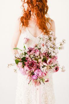 Gorgeous Bridal Bouquet from Pink Peonies | Occasions Magazine Colors Of Summer