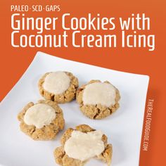 Ginger cookies with coconut cream icing - The Real Food Guide therealfoodguide.com