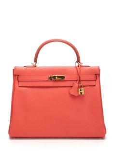 2402efcda3f Hermès Rose Jaipur Togo Leather Kelly 35cm Hermes Bags