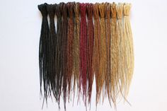 Synthetics Dreads Double Ended, from Justine cherot, i ordered a few of these bad boys last week, they should be in a month or so, the wait sucks but it should totally be worth it, these are gorgeous. Can't wait to braid them in! I am just going to do partial dreads, i don't have enough commitment to do a whole head let alone of my own hair