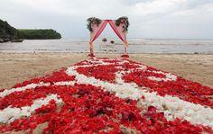 Bali beach wedding flowers decorations
