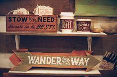 Wood Sign-wander this way-Wanderlust