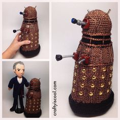 Doctor Who Crochet Amigurumi from CraftyIsCool - Dalek