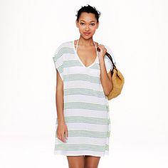 Neon-stripe tunic - beach cover-ups - Women's Women_Shop_By_Category - J.Crew