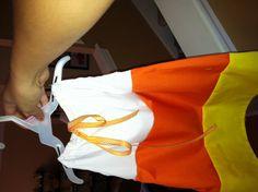 Candy corn pillowcase dress!