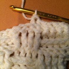 無料編み図 編んでる途中~かぎ針で編むバスケット模様のブランケット