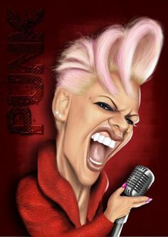nk alecia beth moore (P!) don't know who did this but it's pretty awesome Funny Caricatures, Celebrity Caricatures, Celebrity Drawings, Cartoon Faces, Funny Faces, Cartoon Art, Caricature Artist, Caricature Drawing, Drawing Art