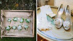 LOVE those succulent boutonnieres. #succulents #cedarwoodweddings
