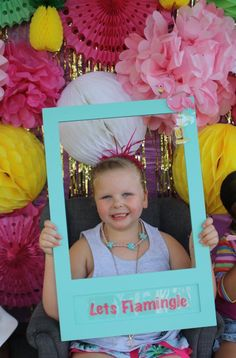 Let's Flamingle!!!! Flamingo themed party photo booth!