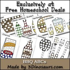 Free BBQ Dot Marker Printable Set – 15 pages