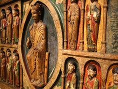 Christ in Majesty - Frontal d'altar de Santa Maria de Taüll (ca. 1200, repainted1597) I Museu Nacional d'Art de Catalunya (Barcelona)