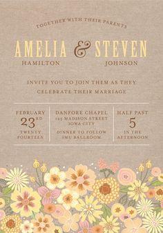 Burlap Bouquet Wedding Invitations | Green Wedding Shoes Wedding Blog | Wedding Trends for Stylish + Creative Brides
