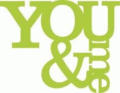 View Design: you and me title -- from Silhouette