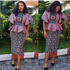 30 Fashionable Ankara Styles & African clothing for women - Reny styles Short African Dresses, African Blouses, African Print Dresses, African Attire, African Wear, African Women, African Outfits, African Beauty, African Fashion Ankara