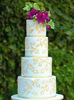 Beautiful wedding cake ideas; via Bellaria Cake Design
