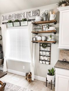 This cup rack is vintage inspired and is sure to give your space that charm you desire. Use this cup rack to dry bottles, cups, glasses, mason jars and mugs. You can even use it in the craft room to… Farmhouse Style Kitchen, Modern Farmhouse Kitchens, Rustic Farmhouse, Kitchen Modern, Farmhouse Sinks, Urban Farmhouse, Farmhouse Furniture, Farmhouse Ideas, Farm House Kitchen Ideas