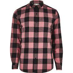 Pink buffalo check casual shirt £25.00