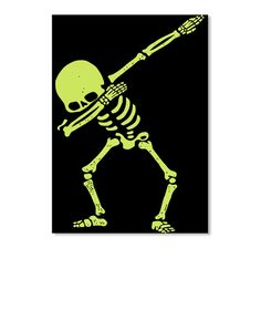 Skeleton Dabbing Limited Edition Black T-Shirt Front